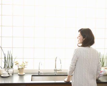 全館空調の効いたキッチン