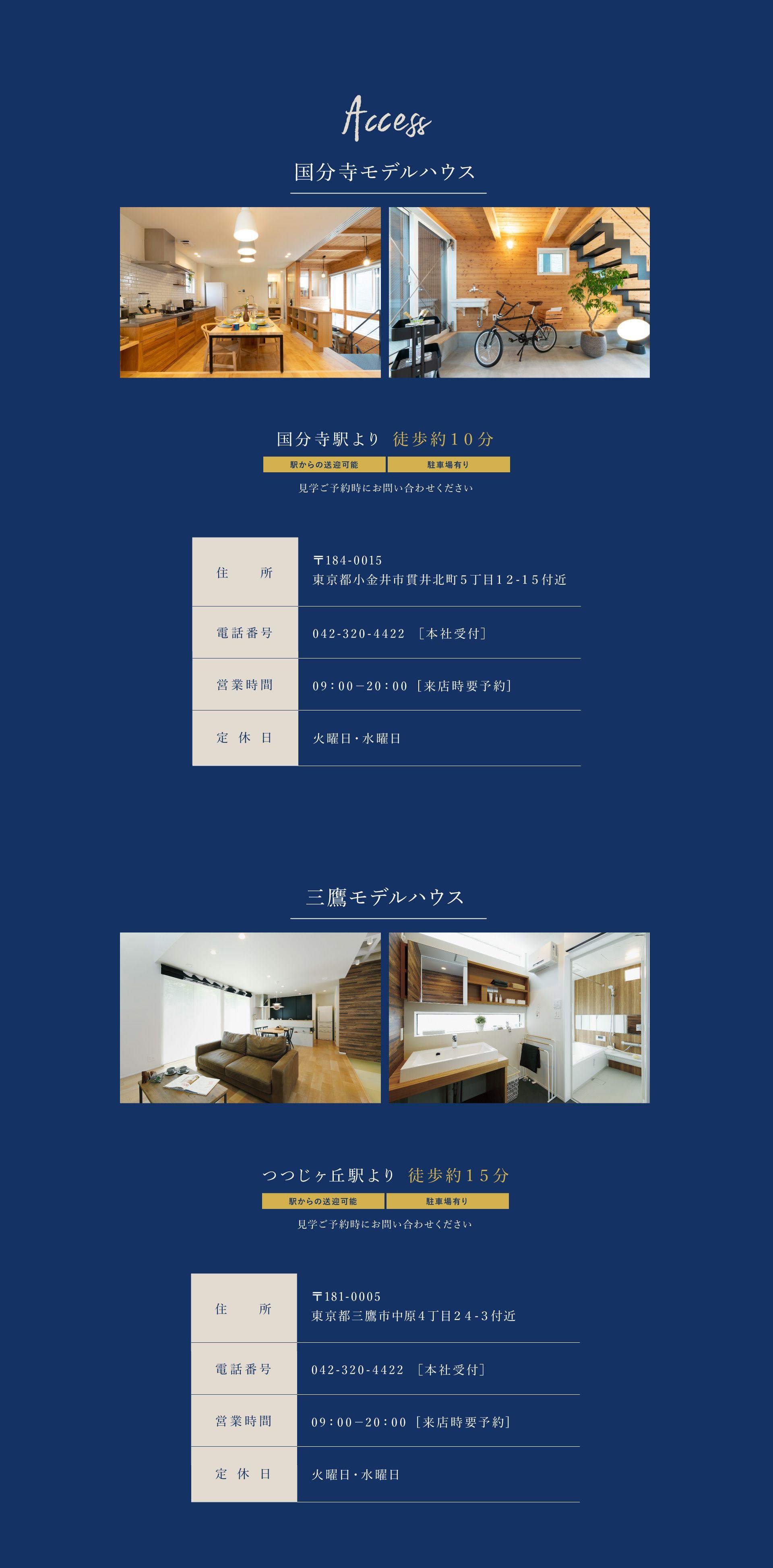 モデルハウスへのアクセス情報