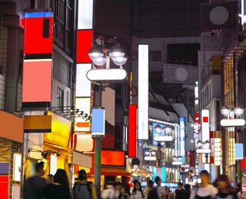 治安がきになる夜の繁華街