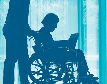 車椅子と雨の日(室内)