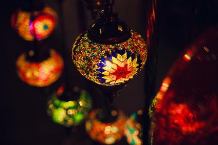 モロッコの美しい照明