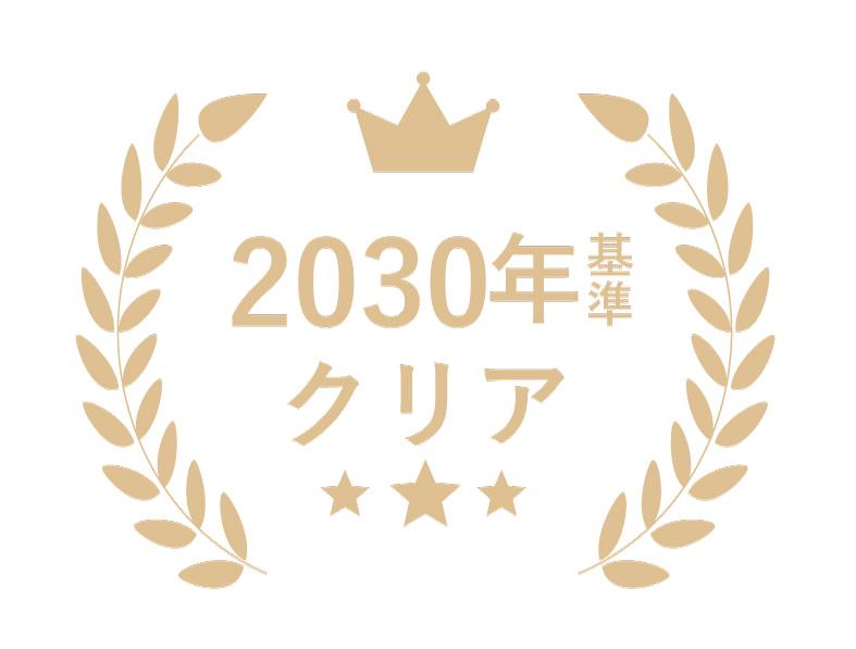 2030年基準クリア