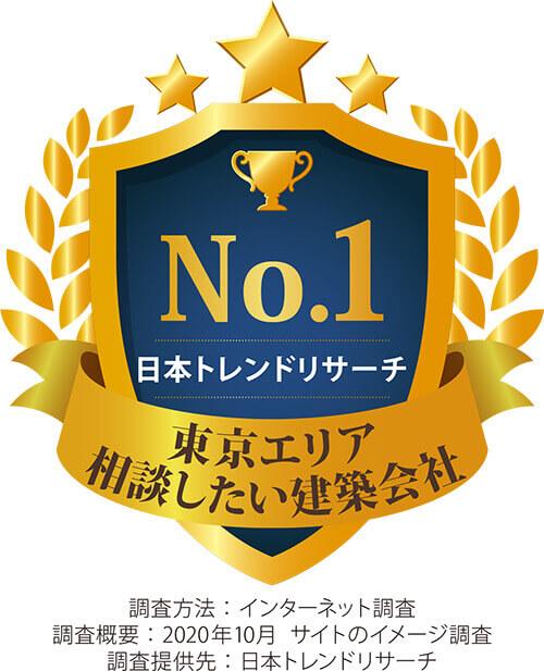 日本トレンドリサーチ「東京エリア 相談したい建築会社 No.1」